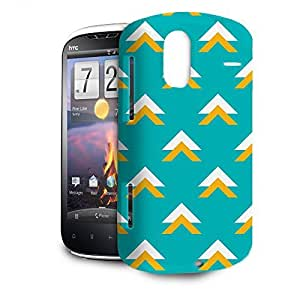 Phone Case For HTC Amaze 4G - Geometric Abstract Triangles Teal Hard Wrap-Around by lolosakes