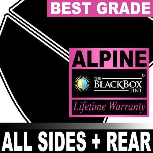 Pontiac Grand Prix 4DR 00 2000 Precut Window Tint - Super High Heat Rejection Black Box Alpine - ()