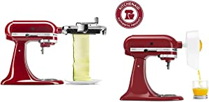 KitchenAid Vegetable Sheet Cutter, 1, Metallic & JE Citrus Juicer Attachment