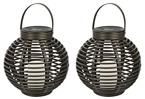 Threshold Solar Wicker Lantern Flickerin - Flickering Lantern Shopping Results