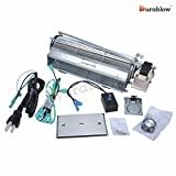 Durablow MFB007-C GFK4, FK4 Replacment Fireplace Blower Fan Kit for Heatilator, Majestic, Vermont Castings, Monessen, CFM, Northern Flame, Rotom HB-RB74K