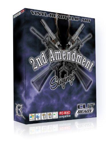 2ND AMENDMENT GUN RIFLE FIREARM SAYINGS Vector Clipart Vinyl ...