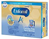 Enfamil A+ Lactose Free Infant Formula, Concentrated Liquid, 385mL, 12 cans