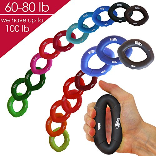 Hand Strengthener Grip Rings 30 100LB