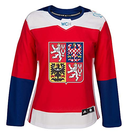 adidas 2016 Czech Republic World Cup of Hockey NHL Women's Red Premier Jersey (M)