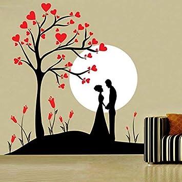 Buy Decor Kafe Couple Under Tree Wall Sticker Pvc Vinyl Film