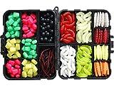 220PCS/Box Carp Fishing Tackle Box Artificial Plastic Fake Baits Sweetcorn/Beads/Worm Lures Imitation Baits Carp Fishing Gear Kit