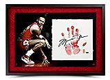Michael Jordan Hand Signed Autographed Hand Print Framed Bulls Tegata UDA /123