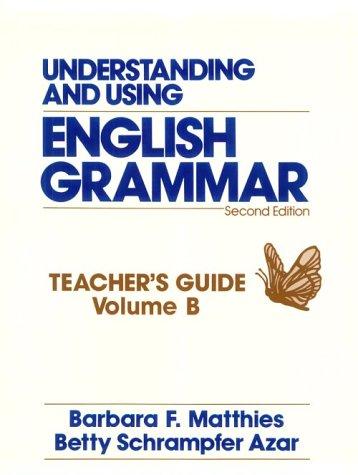 Sera Romania Book Understanding And Using English Grammar