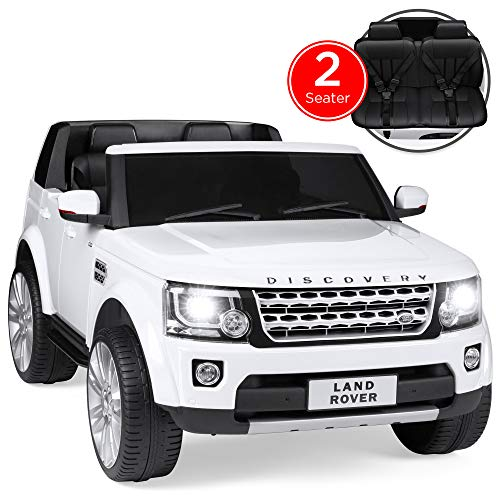 Best Choice Products Kids 12V 2-Seater Licensed Land Rover Ride On w/ RC, Lights/Sounds, MP3, White