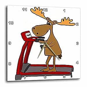 3dRose - Reloj de Pared con diseño Divertido y Divertido de Moose ...