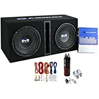 MTX Magnum MB210SP 10 1200W Subwoofer System w/ Wiring Kit + Digital Capacitor