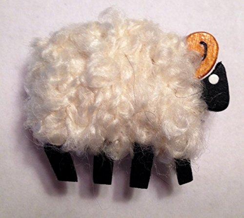 Camus Handmade White Ram Needle Minder for Cross Stitch and Needlepoint
