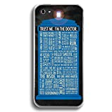 Doctor Dr WHO iphone 5 5G 5S Case Tardis Police Box Dalek Hard Plastic Case (Doctor Who Quotes DR8)