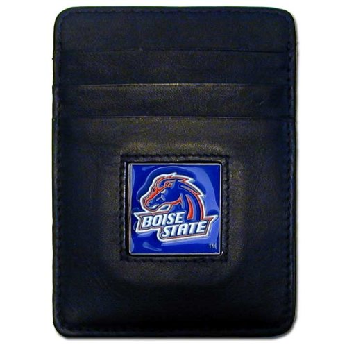 NCAA Boise State Broncos Leather Money Clip/Cardholder Wallet Boise State Broncos Leather