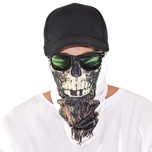 Mw3 Ghost Costume (Maskies by Santa Playa, Breathable Face Masks for Biking, Hiking :: Rapp Scullywag (Active White))