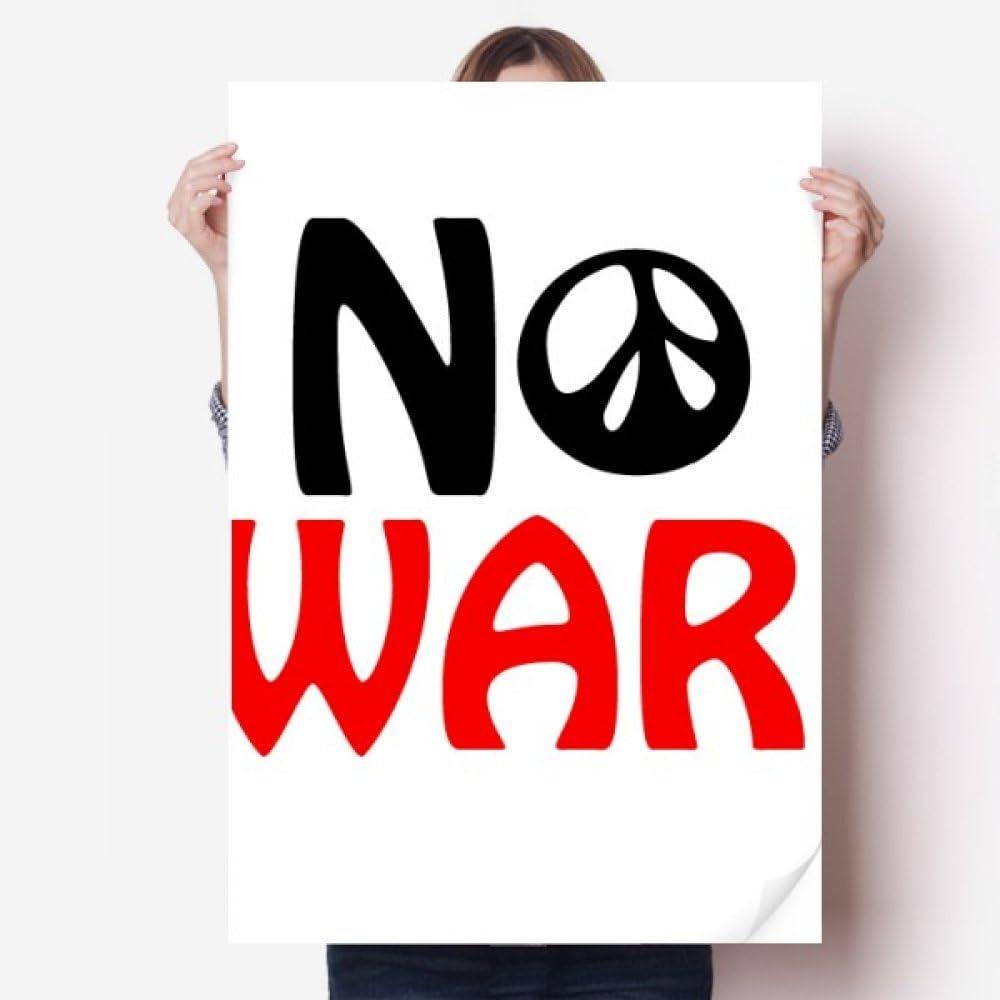 """Decal New /""""No War/"""" Sticker"""