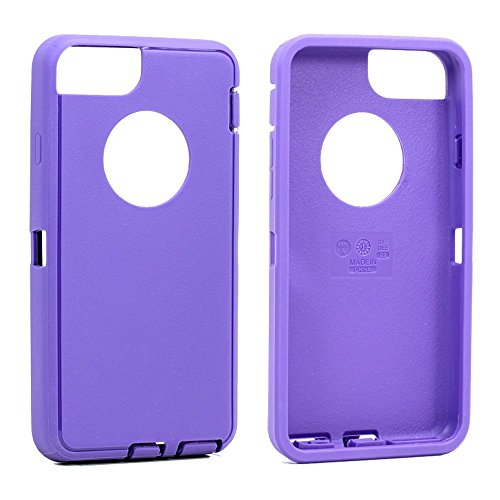 Replacement TPE Silicone Skin for Otterbox Defender Series Case Cover For Apple iPhone 6/iPhone 6s 4.7 inch (Purple (Purple Silicone Skin Case)