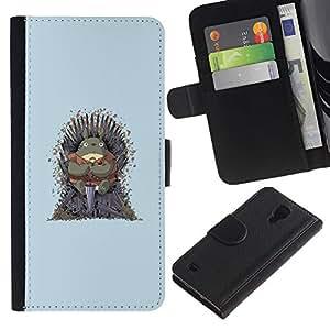 KLONGSHOP // Tirón de la caja Cartera de cuero con ranuras para tarjetas - Vecino Totoro Tronos - Samsung Galaxy S4 IV I9500 //