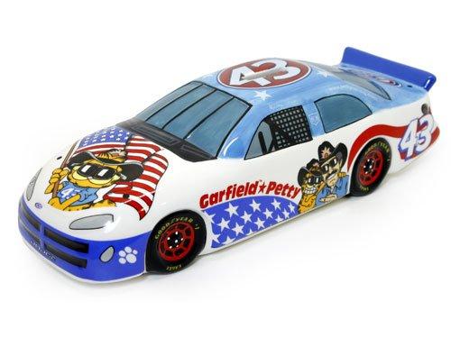 - Garfield and Richard Petty #43 Porcelain Dodge Fantasy Race Car - 6.5x2.5x2