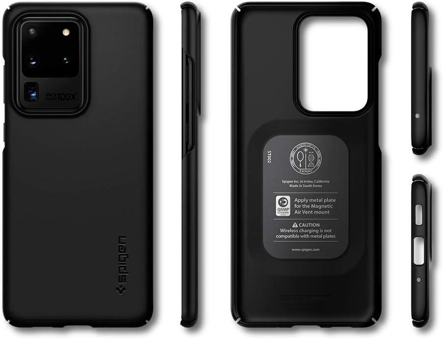 Slim PC Schale Hardcase Leicht D/ünn Schutzh/ülle Handyh/ülle Case Schwarz ACS00708 Spigen Thin Fit Kompatibel mit Samsung Galaxy S20 Ultra H/ülle