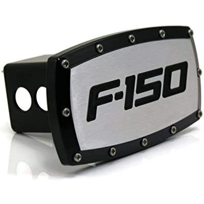 "Ford F-150 2"" Tow Hitch Cover Plug Engraved Billet Black Powder Coated Compatible for Ford: Automotive"