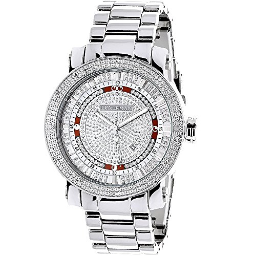 - Mens Diamond Watch 0.12ctw of diamonds by Luxurman