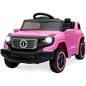 Best Choice Products 6V Ride On Car Truck w/ Parent Control, 3 Speeds, LED Lights, MP3 Player - Pink