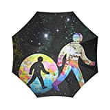 Yananka Umbrella,Compact Storage - Ideal Travel Accessory Fits Men & Women, Gift Choice 43.4''(W) x 25.6''(H) (8 Ribs),Solar system