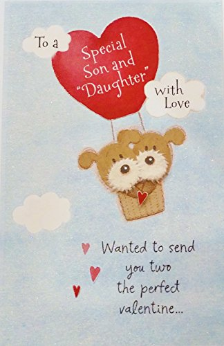 To a Special Son and Daughter-in-Law with Love - Happy Valentine's Day Greeting Card -