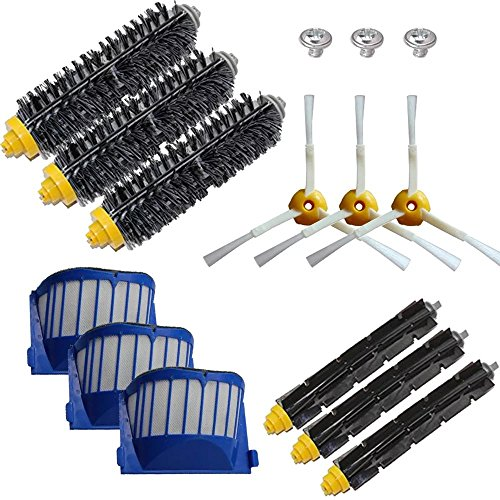 ANBOO for iRobot Roomba 650, 620,655,595 620 630 645 650 655 660 Robotic Vacuum Cleaner Replenishment Parts,12 pcs 600 Series Replacement Brush Accessories
