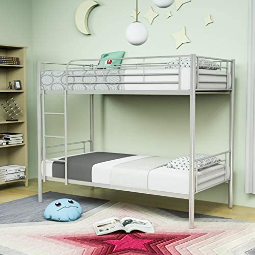 Mecor Metal Bunk Bed Twin Over Twin