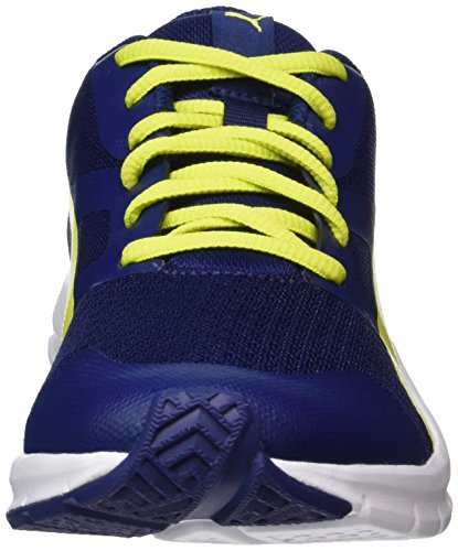 Puma Unisex-Kinder Flexracer Jr Sneaker Blau (Blue Depths-Nrgy Yellow)