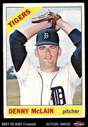 Tigers Denny Mclain Detroit (1966 Topps # 540 Denny McLain Detroit Tigers (Baseball Card) Dean's Cards 3 - VG Tigers)