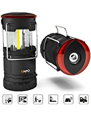 EMPO Premium LED Camping Lantern Portable Flashlight for Outdoor Military-Ultra Bright, Durable, Lightweight, Fully Collapsible-Magnetic Base, Torch, Beacon-Water Resistant-2 Pack