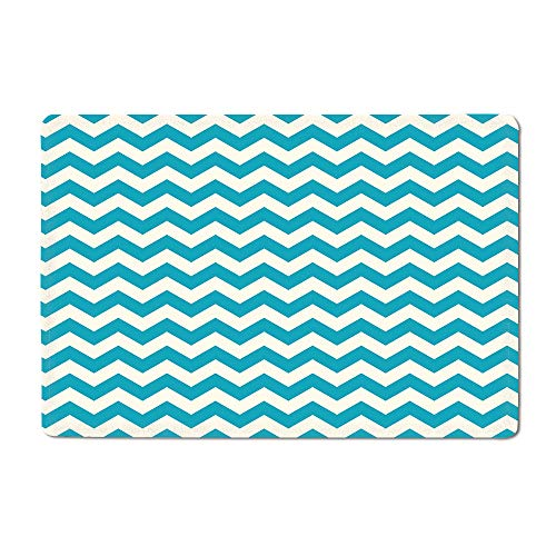 - Seafoam Door mat Abstract Geometric Stripes with Chevron Zigzag Arrangement Vintage Inspirations Bathtub mat Beige Seafoam 16