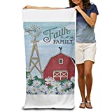 Personalized Beach Towel-Faith Family Quick Dry Beach Towel For Girls,Boys,Women, Mens,Adults