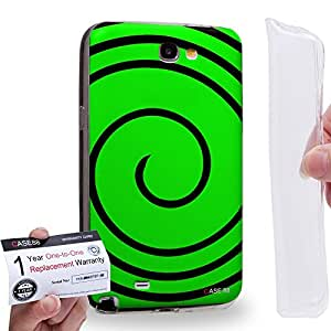 Case88 [Samsung Galaxy Note 2] Gel TPU Carcasa/Funda & Tarjeta de garantía - Art Fashion Visual Art Effect 16 Art1027