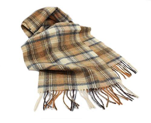 Biddy Murphy Plaid Scarf Brown Wool Unisex 63
