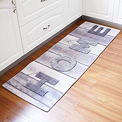 Amazon Com Linker Wish Padded Kitchen Mat Long Home Map Old