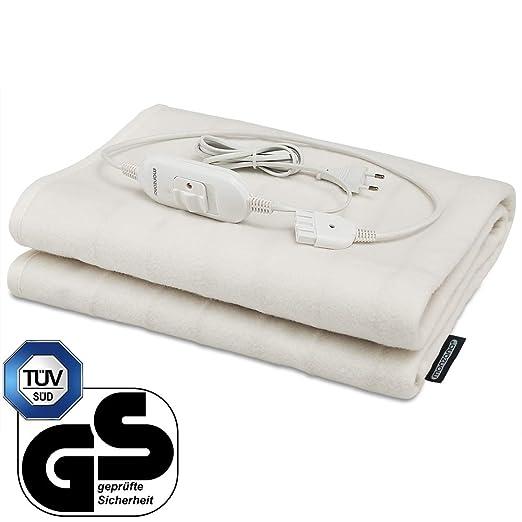 Deuba® Calienta camas | Calienta sabanas | Manta eléctrica de 150 x 80 cm | 3 funciones | lavable a máquina a 40º máximo | Rápido y sencillo |
