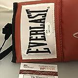 Autographed/Signed Bernard Hopkins Red Everlast