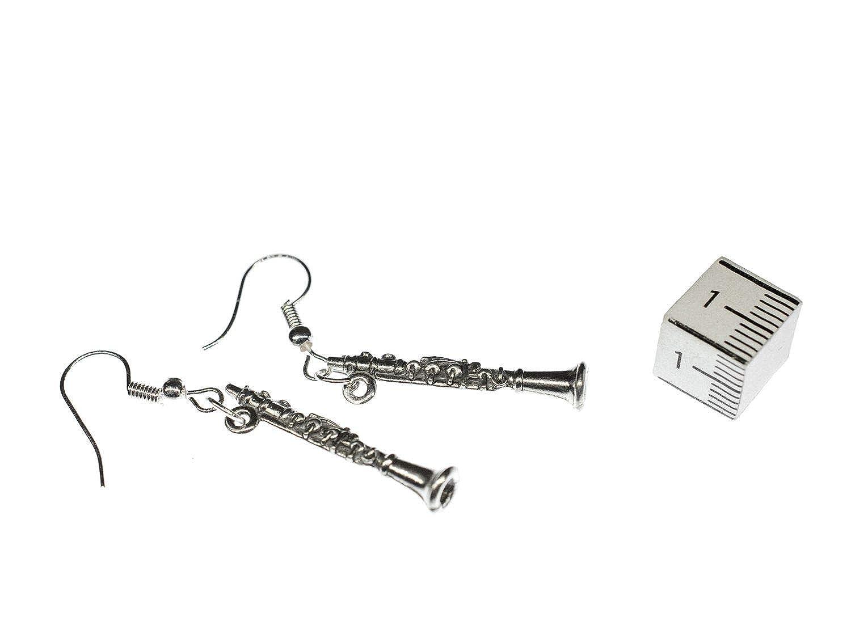 pendientes clarinete percha plata Miniblings clarinete ...