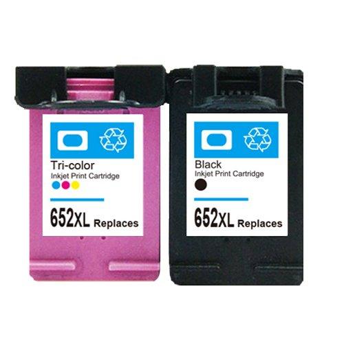 2pk Para HP Deskjet 652 Cartucho de tinta 1118 2135 2136 1115 2138 ...