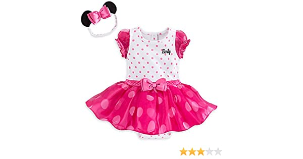 b646d580a Amazon.com: Disney Store Pink Polka Dot Minnie Mouse Baby Girls Costume & Headband  Dress Up: Clothing