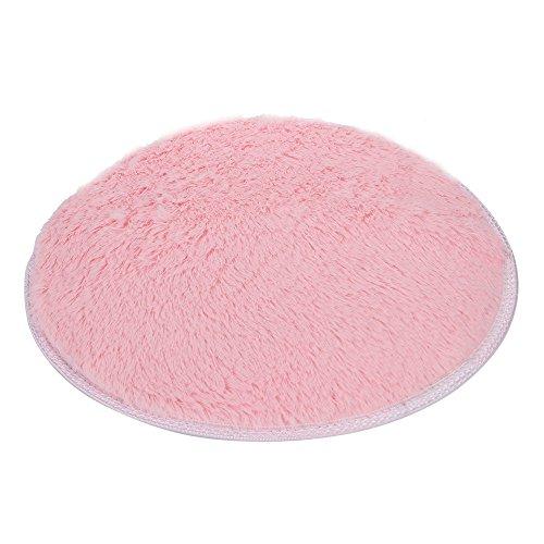 Round Carpet, Yezijin Soft Bath Bedroom Floor Shower Round Mat Rug Non-Slip - Diameter: 16 inch (Pink) by Yezijin (Image #1)