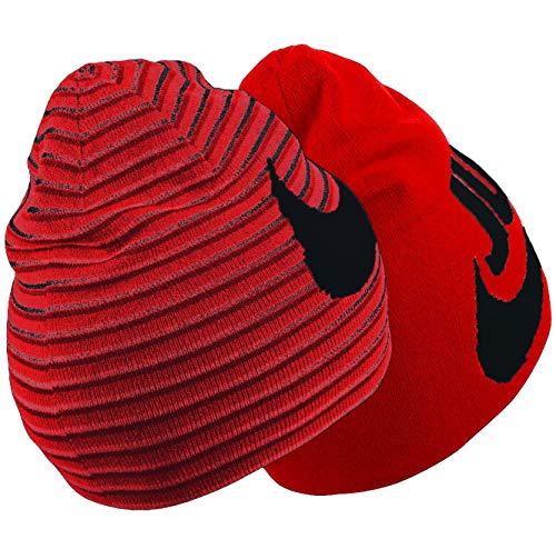 (Nike Boy`s Reversible Beanie (University Red(851472-657)/Black, One Size))