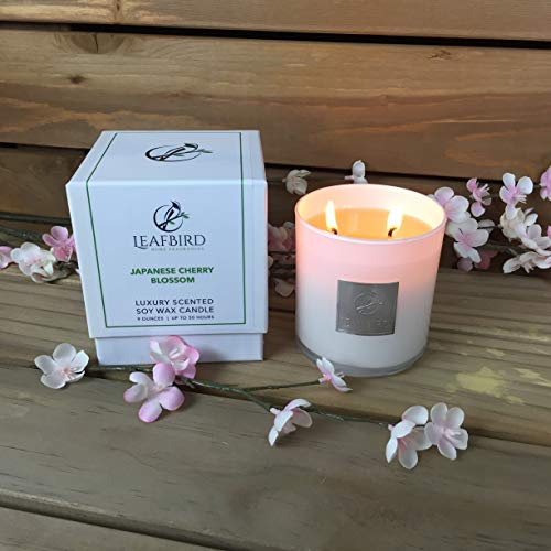 LeafBird Luxury Scented Candles, All Natural, Soy Wax Candle with Strong Fragrance | Up to 50 Hours Burn Time | 100% Cotton Wick, Soot-Free, Burns Clean | Gift Box Included ()