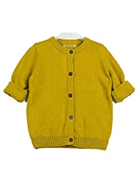 CutyKids Boys Long Sleeve Lapel Collar Knitted Cardigan Button Closure Sweater