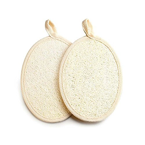 2 pack Loofah Sponge Scrubbers by Justime